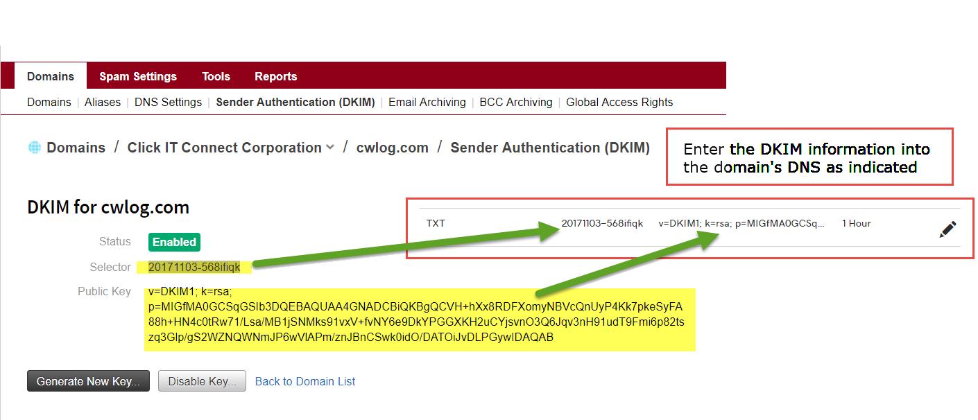 DKIM Example